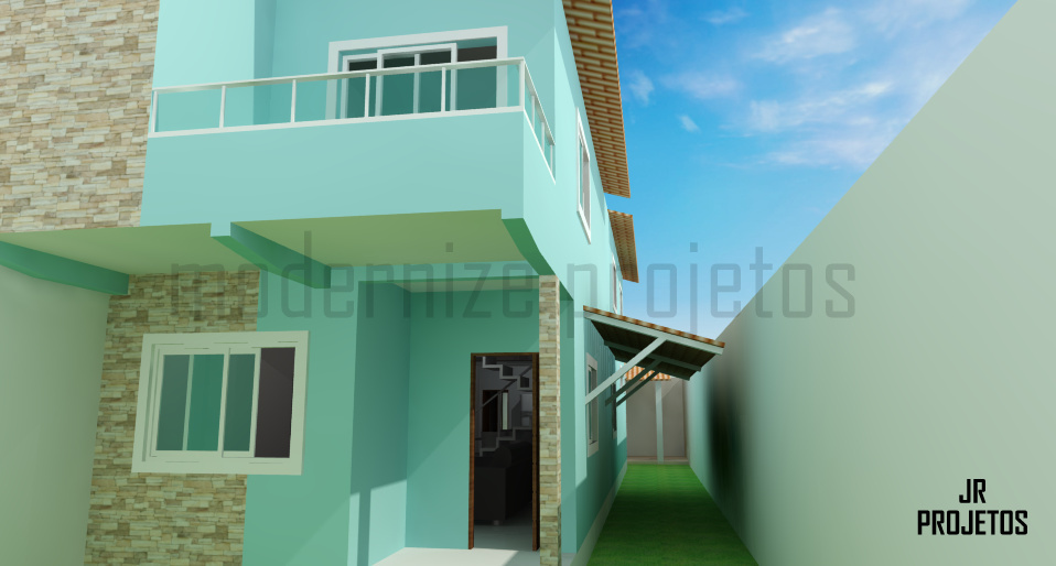 Fachadas de casa duplex casa com fachada moderna com tons for Fachadas duplex minimalistas
